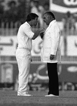 The infamous moment in 1987 when Mike Gatting and umpire Shakoor Rana clashed, an incident that shook the world of Cricket & ultimately cost Gatting the England captaincy. It prompted the introduction of professional umpires. Some say Gatting was upset with some of Rana's decisions. Others say Rana nicked Gatting's fried breakfast! You decide