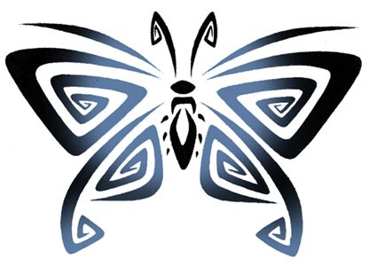images tribal butterfly tattoo | tribal butterfly tattoo design by CuttingTheDay…