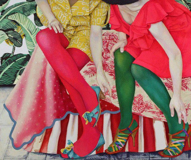 ¿Qué título pondrías a esta obra? Artista: Naomi Okubo. Pineado desde http://nyaooon.jimdo.com/works/ (PAINTINGS 2014)