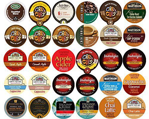 30-count Assorted Coffee, Tea, Cider, Cappuccino & hot chocolate/cocoa Single Serve Cups For Keurig K Cup Brewers Variety Pack Sampler - http://mygourmetgifts.com/30-count-assorted-coffee-tea-cider-cappuccino-hot-chocolatecocoa-single-serve-cups-for-keurig-k-cup-brewers-variety-pack-sampler/