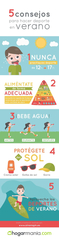 #Infografia 5 consejos para hacer deporte en verano de forma segura by @ainaragm