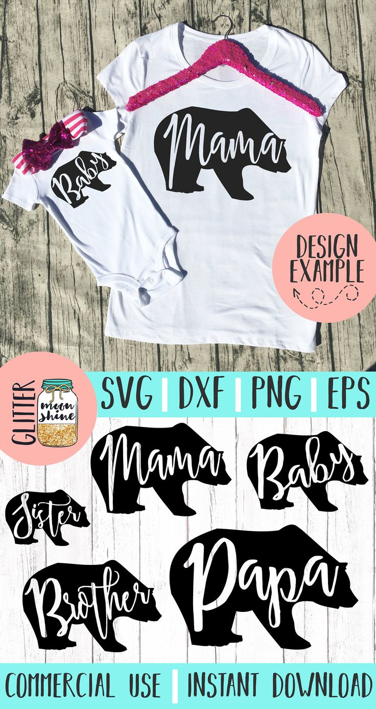 Bear Family Bundle Set Svg Dxf Eps Png Files For Cutting