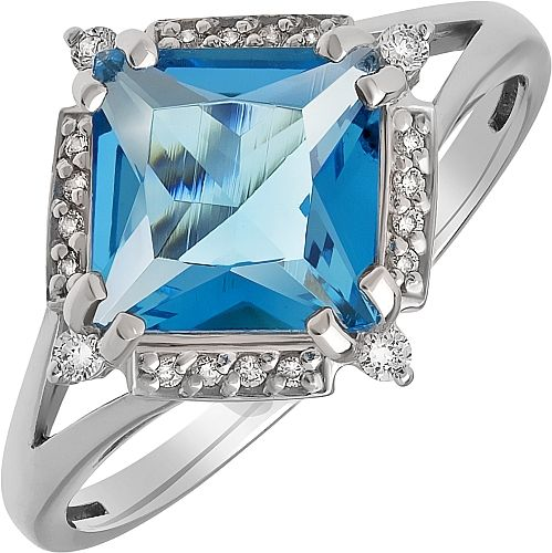 Ring Silver Topaz Jewelry