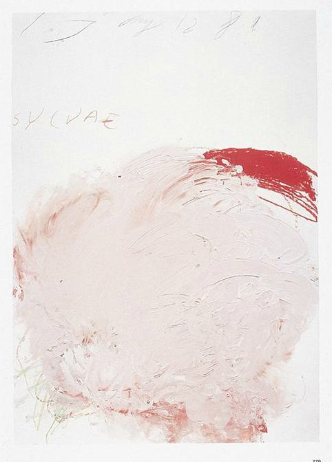 Cy Twombly: Sylvae (1980). Paint stick, crayon, pencil on paper.