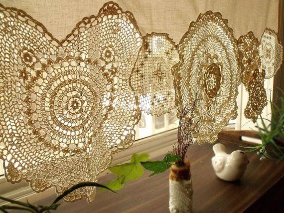 Boho vintage crochet centrini shabby chic francese paese