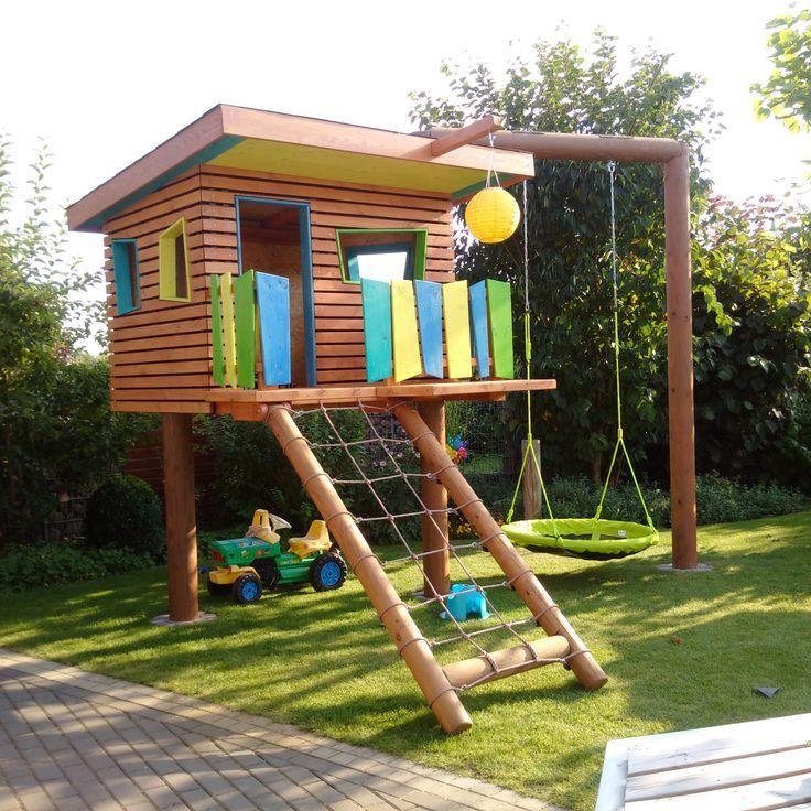 Kinderspielhaus im Garten Bauanleitung zum selber bauen