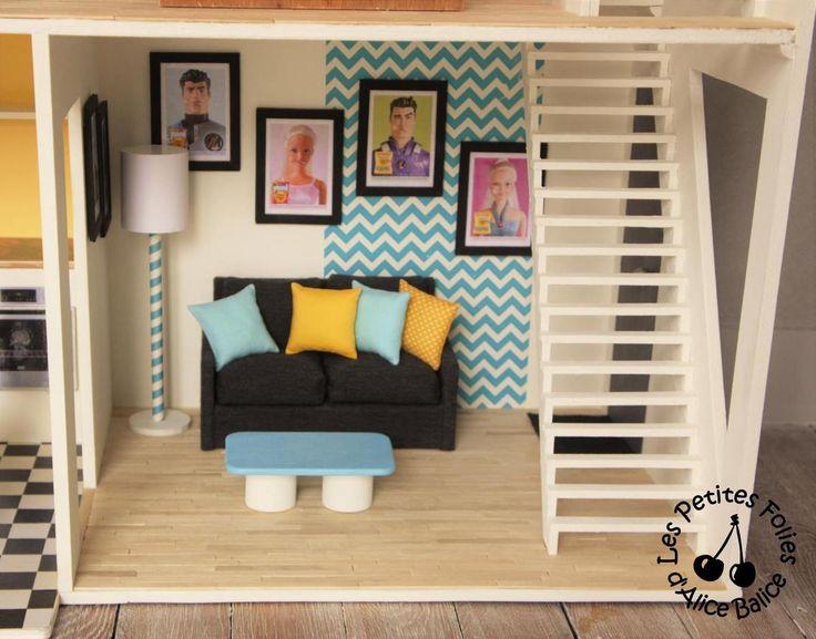 103 besten puppenm bel diy bilder auf pinterest puppenh user barbie m bel und miniature - Barbie wohnzimmer ...