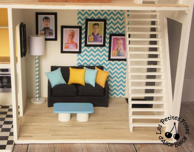 les 25 meilleures id es de la cat gorie maison de barbie sur pinterest diy maison poup e. Black Bedroom Furniture Sets. Home Design Ideas