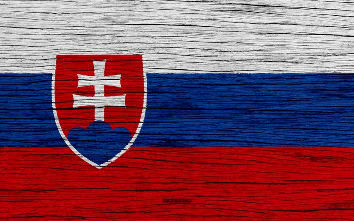 Download wallpapers Flag of Slovakia, 4k, Europe, wooden texture, Slovak flag, national symbols, Slovakia flag, art, Slovakia