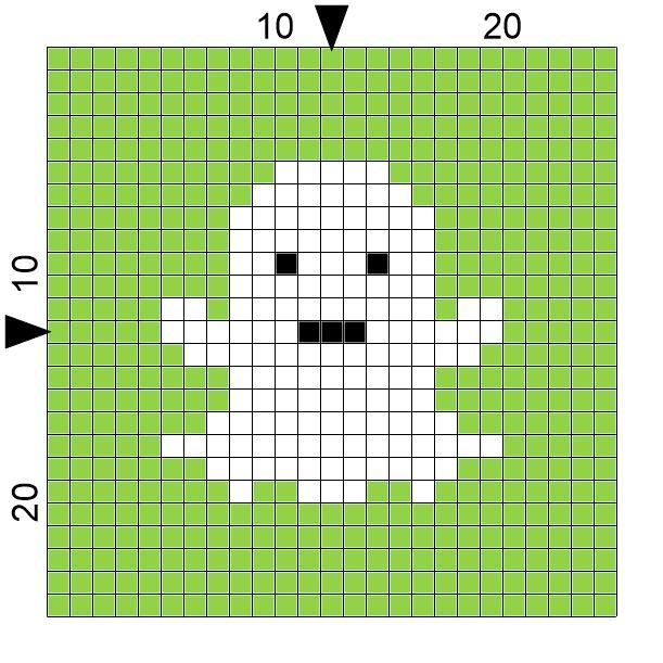 SPRE: Patterns & Design: Crochet Ghost Square