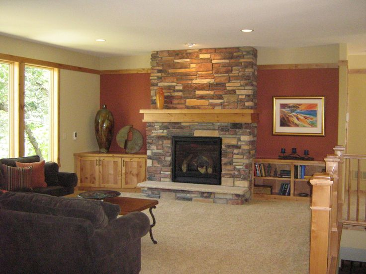 Fascinating Fireplace Mantel Shelf For Home Decorating Ideas Charming Stacked Stone Surround With And Bookcase Carpet