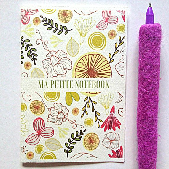 A6 handmade travel notebook floral notebook by cheapsmarttoys