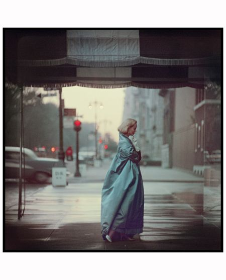 """Untitled, New York 1956...like the color. it's faded, washed out, and fits the """"scene."""" also like the dress and how it bells out into the middle of the frame/shot. very """"british""""--it evokes a time and place..."""