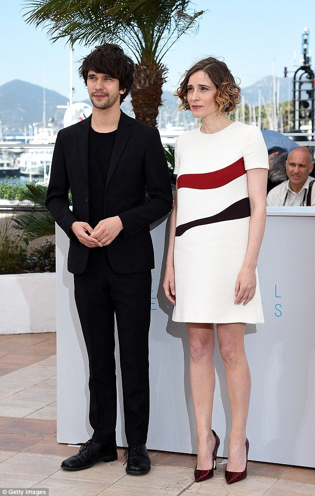 Correct and present: Ben Whishaw and Angeliki Papoulia were also there for the film's big moment