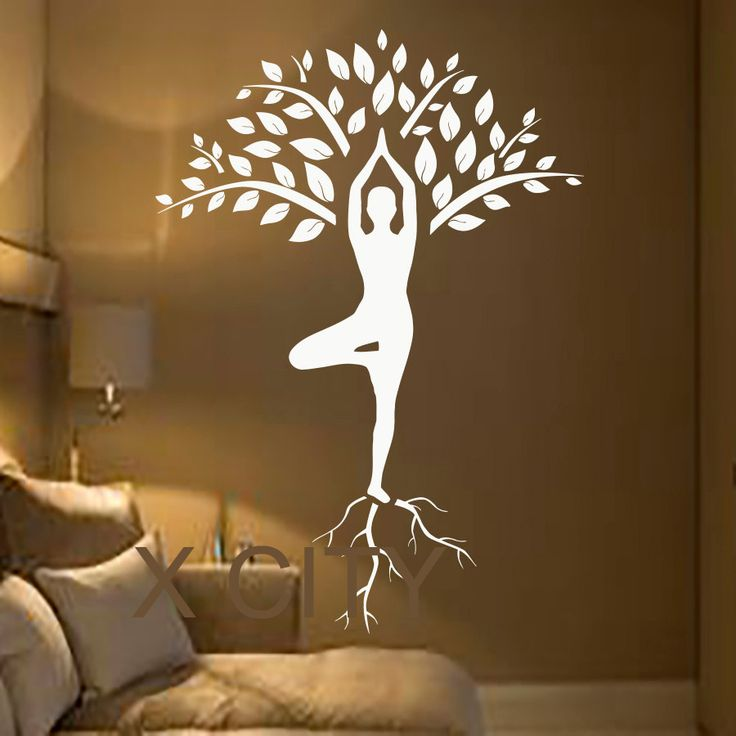Aliexpress.com: Comprar Tree Wall Decals arte gimnasta Decal meditación Yoga pegatinas de vinilo Gym Home decoración de diseño de interiores murales de pegatinas banda fiable proveedores en X City Stickers Decal