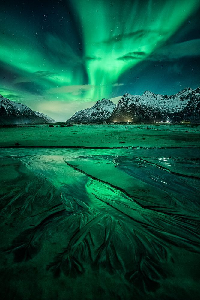 Aurora Borealis, Flakstad, Lofoten, Northern Norway