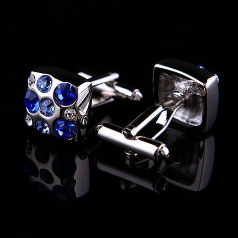 Manžetové knoflíčky - cufflink modré kamínky