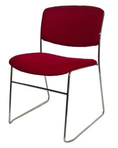 The Binoto Sled Iis A Simple Visitor Chair With A Chrome Rod Reinforced  Frame. Available