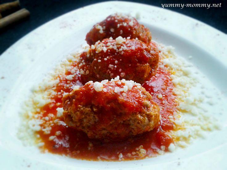 Smyrna meatballs (Soutzoukakia)