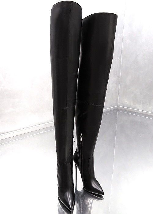 1714b0f67a1e LEDER OVERKNEE STIEFEL LANGE 1969 ITALY P9 LUXUS BEST LEATHER BOOTS HIGH  HEELS