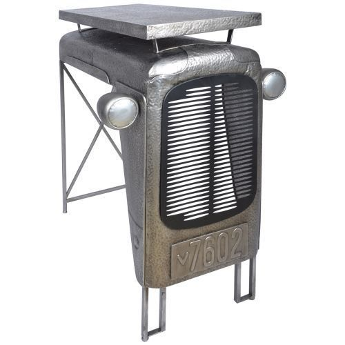 Vintage Design Table Home Furniture Tractor Bar Party Indoor Outdoor Side Grey