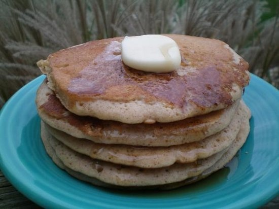 """Cookie Pancakes: """"These are fantastic! I went via the snickerdoodle way, [and] it was funny how we fought over the last two pancakes. This is a definite do again recipe."""" –Weekend Cooker via Food.com      Get the Cookie Pancakes recipe on Food.com>>      Photo Source: CoffeeB on Food.com"""