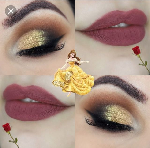 Princess Belle makeup idea for beauty and the beast wedding