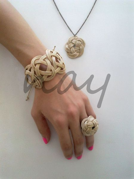 Handmade chinese knot floral necklace set NK20 from nay handmade - unique handcrafted accessories by DaWanda.com