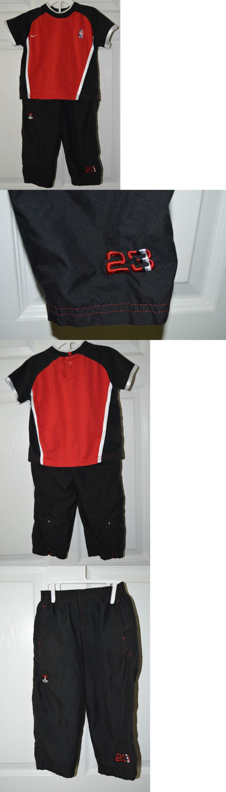 Michael Jordan Baby Clothing: Nike Nba Michael Jordan 2 Piece Boys Outfit 2T Red Shirt Black Pant 23 BUY IT NOW ONLY: $12.99