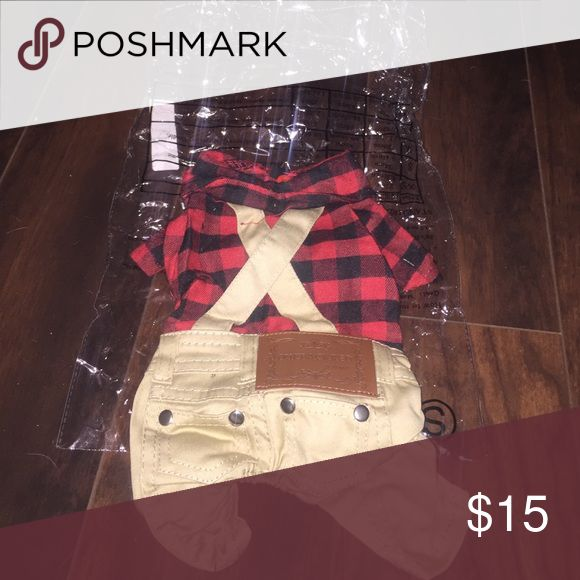 NWT lumberjack outfit for small cat or dog Super cute! Other
