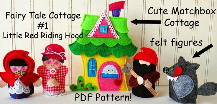 NEW, CUTE little Matchbox Cottages by LindyJ Design