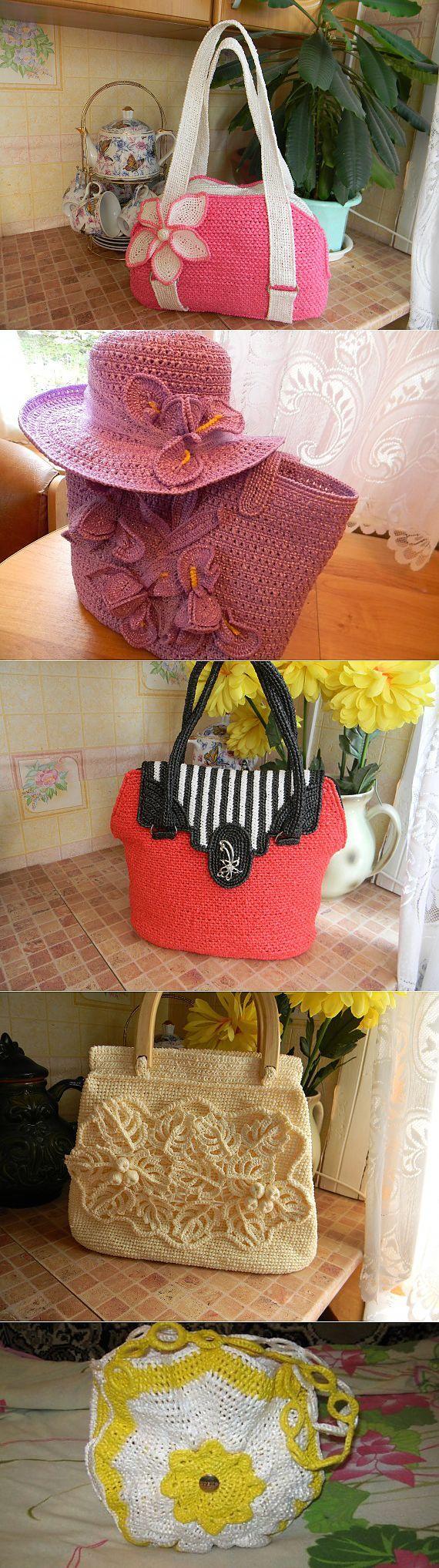 Bellos bolsos de crochet