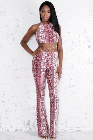 Noble Crop Top & Pants Set