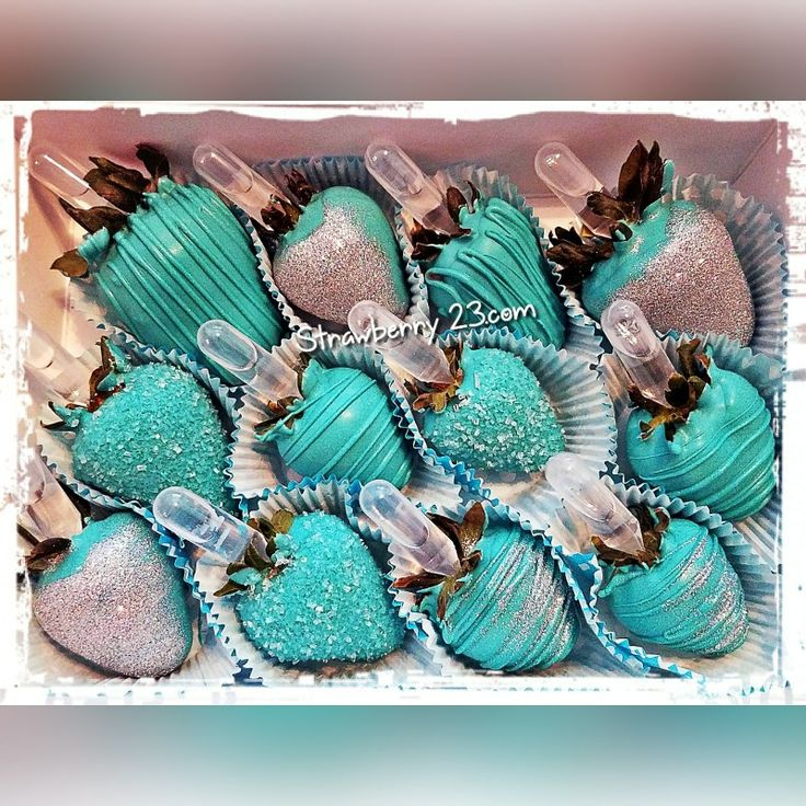 Tiffany Blue themed bling berries infused with Ciroc Berry!!!!