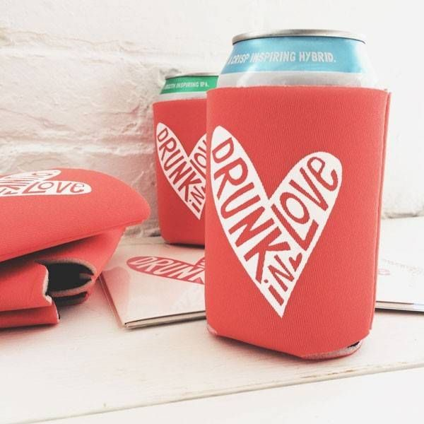 Beyonce inspired beer koozie wedding favor