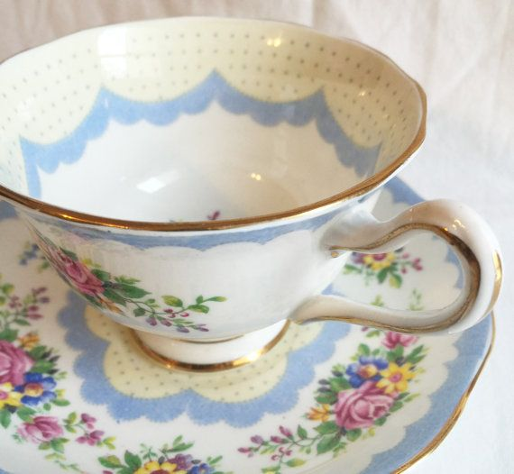 Royal Albert Prudence Tea Cup and Saucer Set by ViolasValuables