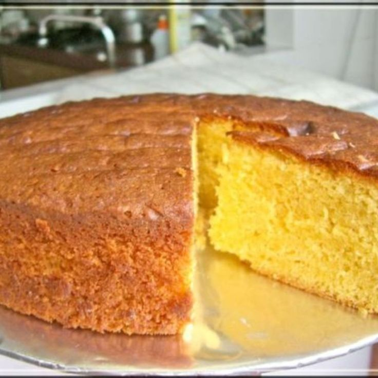 Done! Cake Boss Sponge Cake Recipe | Just A Pinch Recipes. Best sponge cake, not quite this yellow but amazing taste and quality!
