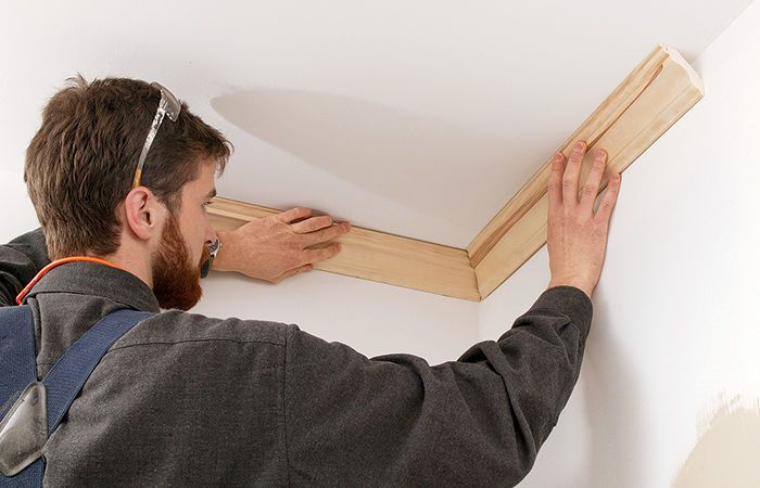 It S Especially Handy For Laying Out And Installing Outside Corners I Measure The Angle Of The Corner Subtract That Crown Molding Diy Crown Molding Cope
