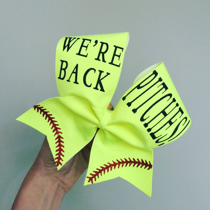 Neon Yellow Wer'e Back Pitches Softball Bow Pitcher