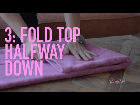 3 easy tricks for folding: fitted sheet & towels and stuffing your duvet!