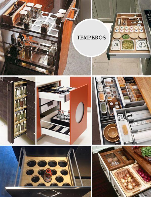 21 gavetas organizadoras dos sonhos pra a cozinha