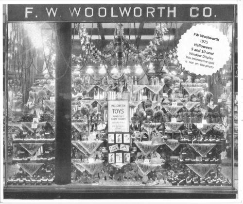 1925 woolworth halloween display window toys novelties party favors love collect. Black Bedroom Furniture Sets. Home Design Ideas