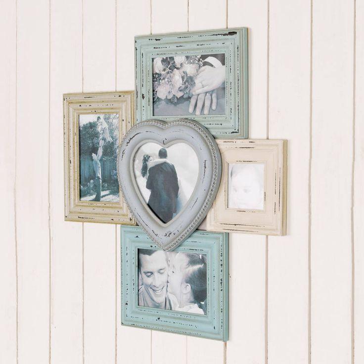 Distressed Vintage Photo Frames Display