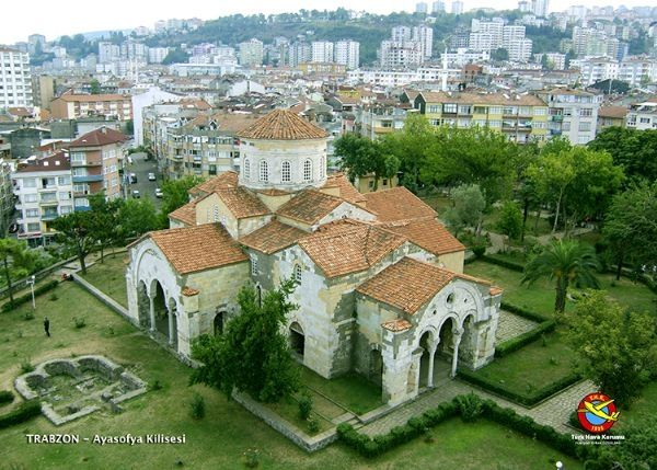 HAVADAN TÜRKİYE FOTOĞRAFLARI Trabzon Hagia Sophia Church
