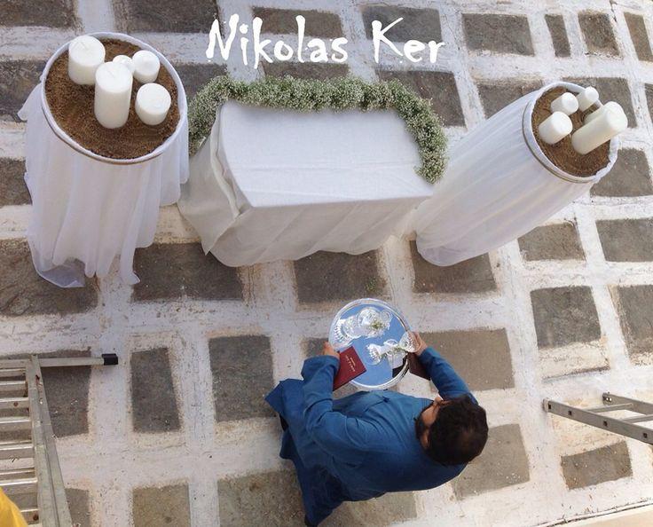Όλα έτοιμα....!!!! Wedding @Tzia!!! www.nikolas-ker.gr