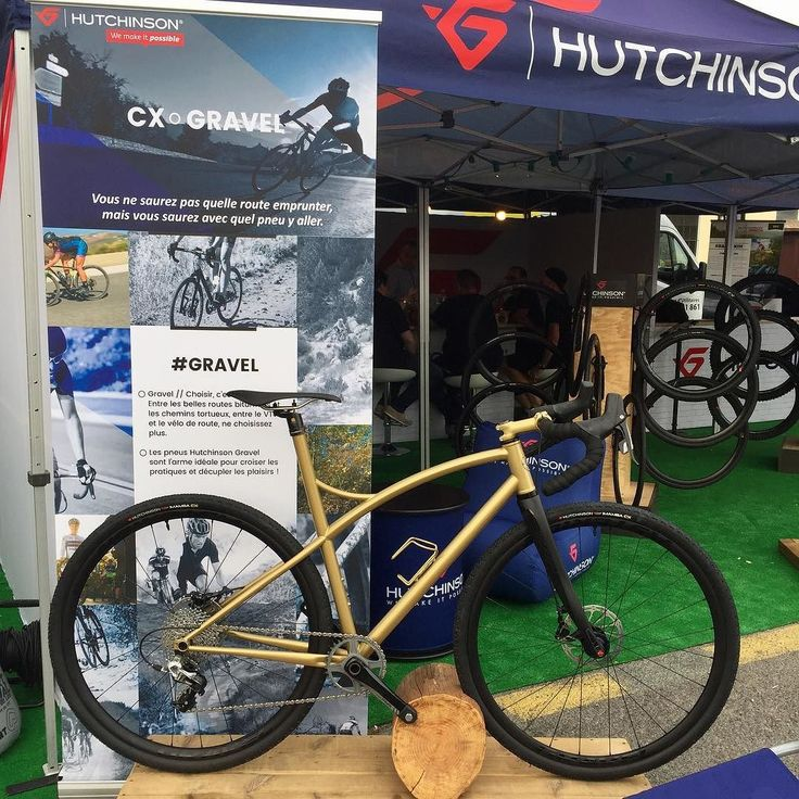 Have a look at @hutchinsontires booth at @rocmtb for the new Black Mamba CX 700x38 tires on our gold gravel bike.  #rocdazur #hutchinsontires #caminadebikes #gravelbike #gravel #bike #madeinfrance #steelframe #rocdazur #hutchinsontires #caminadebikes #gravelbike #gravel #bike #madeinfrance #steelframe @hutchinsontires @rocmtb caminadebikes http://ift.tt/2xZypay  Have a look at @hutchinsontires booth at @rocmtb for the new Black Mamba CX 700x38 tires on our gold gravel bike…