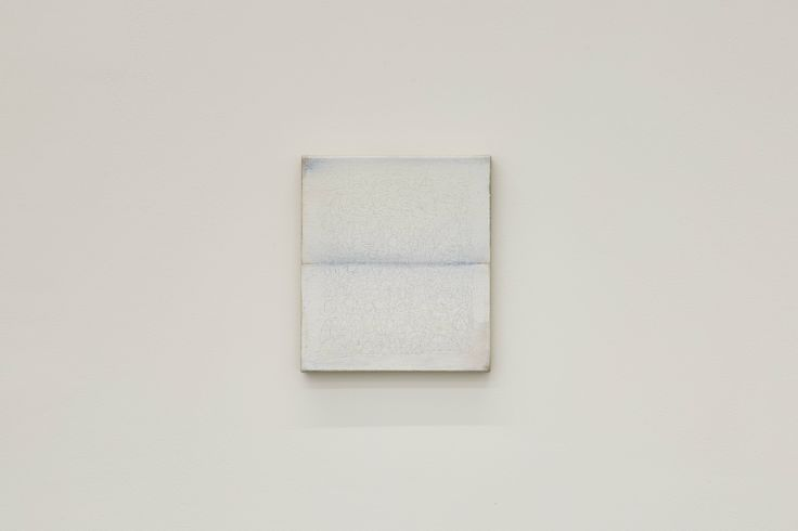 Richard Höglund, Sea Picture LXV, 2016, silver, tin, lead and oil on linen prepared with bone pulver and marble dust, 30 x 26 cm. Ronchini Gallery, London.
