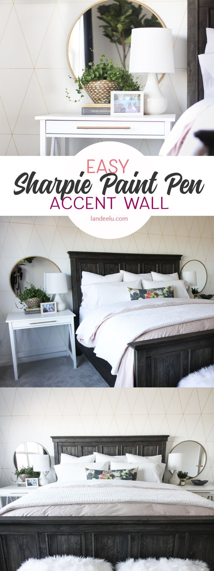 If you're looking for an easy but AMAZING accent wall idea this is what you&...