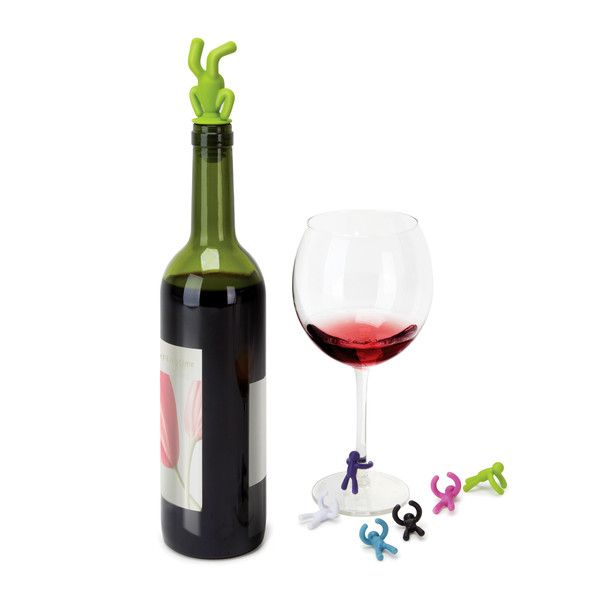 DRINKING BUDDY WINE CHARMS & TOPPER SET  $9.99
