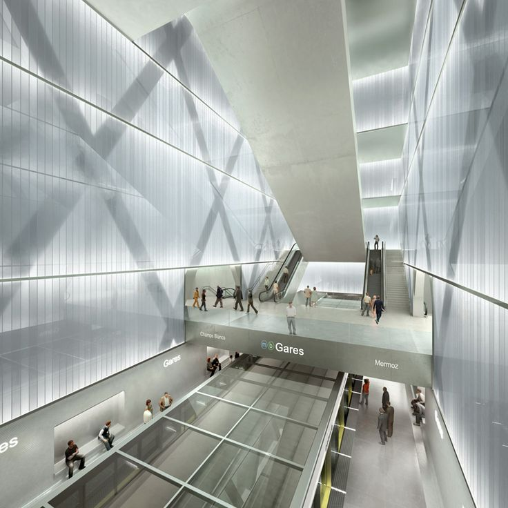 Métro Ligne B – Station gares | Atelier Zündel Cristea